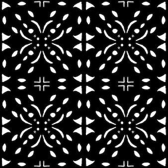 Modèle sans couture aquarelle azulejo. carreaux de céramique traditionnels portugais. abstrait dessiné à la main. oeuvre d'art à l'aquarelle pour le textile, le papier peint, l'impression, la conception de maillots de bain. motif azulejo noir.