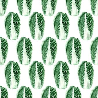 Modèle sans couture aquarelle avec des images de différents types de chou. têtes et feuilles de pékin et de chou blanc