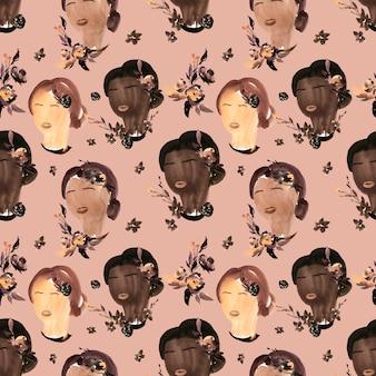 Modèle sans couture aquarelle pour black lives matter