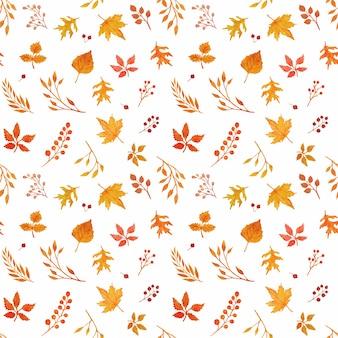 Modèle sans couture automne aquarelle
