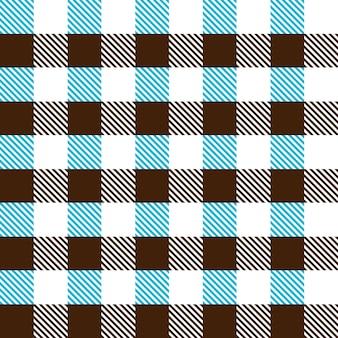 Modèle sans couture d'une cage de deux couleurs sur fond blanc