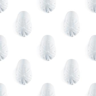 Modèle sans couture de la casquette de baseball blanc blanc
