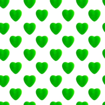 Modèle sans couture de coeur vert