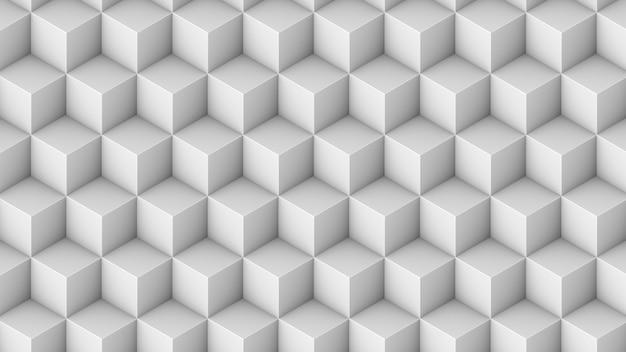 Modèle sans couture de cubes isométriques. fond de cubes de rendu 3d