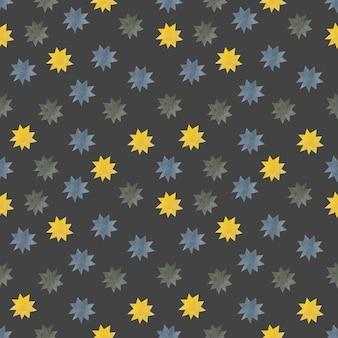 Modèle sans couture d'étoiles aquarelle