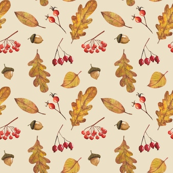 Modèle sans couture avec les feuilles d'automne, pour la décoration de la conception de l'automne et pour le scrapbooking.