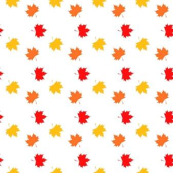Modèle sans couture de feuilles d'érable colorées