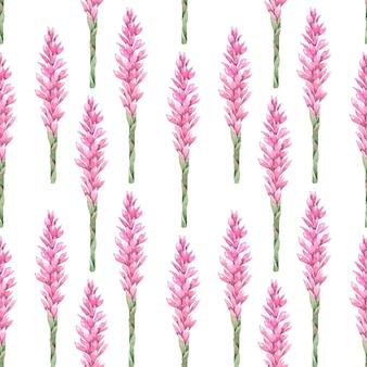 Modèle sans couture de fleurs de gingembre aquarelle