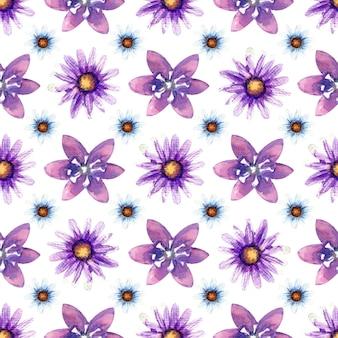 Modèle sans couture avec des fleurs sauvages sur fond blanc. motif floral pour papier peint ou tissu