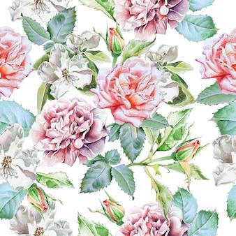 Modèle sans couture avec des fleurs