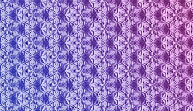 Modèle sans couture de géométrie légère en trois dimensions avec des fleurs à six pointes