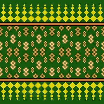 Modèle sans couture géométrique de fond vert et tissu