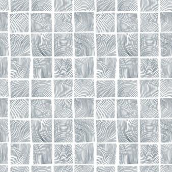 Modèle sans couture avec illustration de coupes transversales en bois isolé sur fond blanc