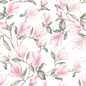 Modèle sans couture de magnolia.