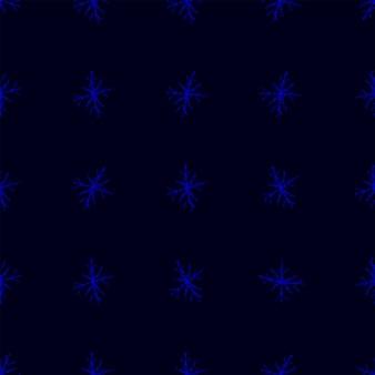 Modèle sans couture de noël de flocons de neige dessinés à la main. flocons de neige volants subtils sur fond de flocons de craie. admirable superposition de neige dessinée à la main à la craie. décoration parfaite pour les fêtes de fin d'année.