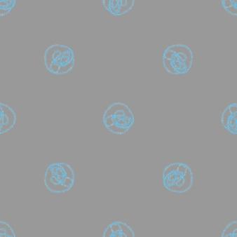 Modèle sans couture de noël de flocons de neige dessinés à la main. flocons de neige volants subtils sur fond de flocons de craie. adorable superposition de neige dessinée à la main à la craie. décoration mignonne de saison de vacances.