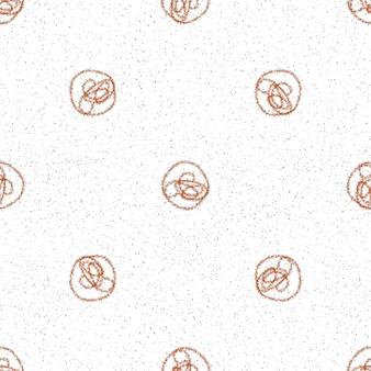 Modèle sans couture de noël de flocons de neige dessinés à la main. flocons de neige volants subtils sur fond de flocons de craie. étonnante superposition de neige dessinée à la main à la craie. décoration fantaisie des fêtes de fin d'année.