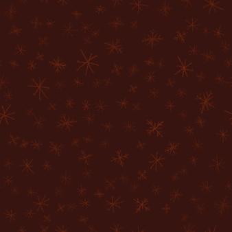 Modèle sans couture de noël de flocons de neige dessinés à la main. flocons de neige volants subtils sur fond de flocons de craie. superposition de neige dessinée à la main à la craie attrayante. décoration de saison des fêtes à couper le souffle.