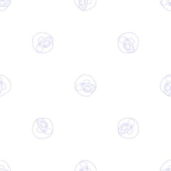 Modèle sans couture de noël de flocons de neige dessinés à la main. flocons de neige volants subtils sur fond de flocons de craie. superposition de neige dessinée à la main à la craie vivante. décoration rare des fêtes de fin d'année.