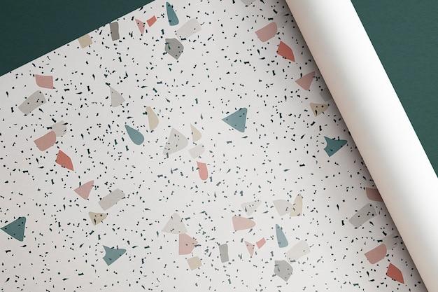 Modèle sans couture de papier terrazzo