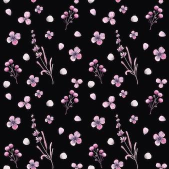 Modèle sans couture de petites fleurs aquarelles