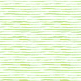 Un modèle sans couture de rayure d'aquarelle dans la couleur verte