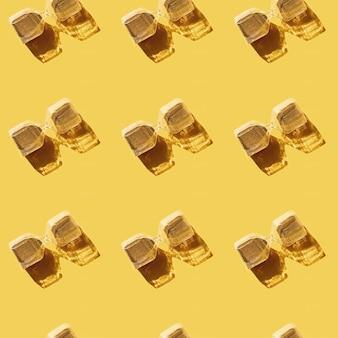 Modèle sans couture avec sablier avec sable doré