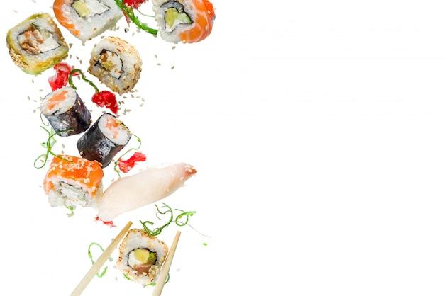 Modèle sans couture avec sushi