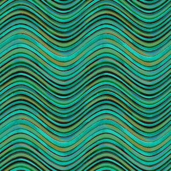 Modèle sans couture. teal turquoise bleu jaune et marron grunge ondulé abstrait géométrique rayé. texture transparente dessinée à la main à l'aquarelle avec des rayures de couleur.