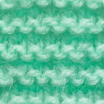 Modèle sans couture de tissu tricoté de couleur turquoise, menthe