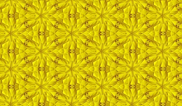 Modèle sans couture à trois dimensions géométrie légère avec six fleurs pointues