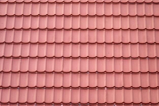 Modèle sans couture de tuile de toit en terre cuite couvrant sur house