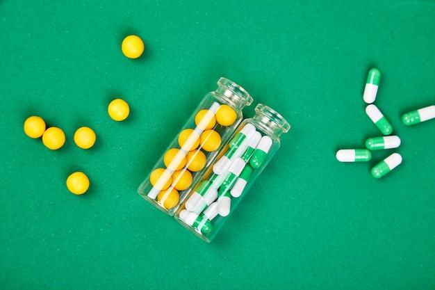 Modèle de style de minimalisme pour le blog de pilules médicales.