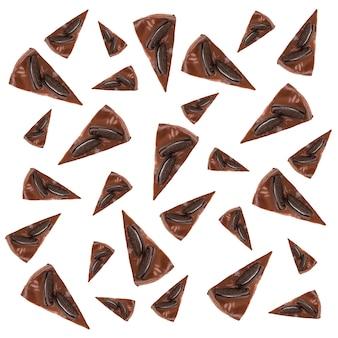 Modèle de tartes au chocolat avec des cookies