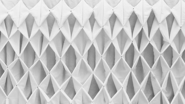 Modèle de tissu de décoration ondulée blanche - fond