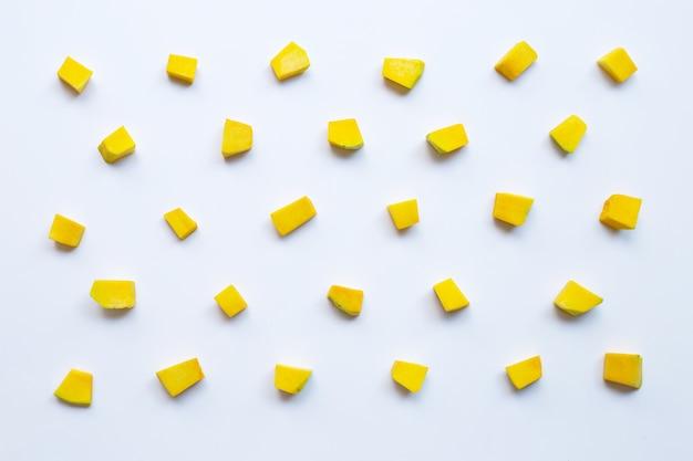 Modèle de tranches de cube de légumes citrouille vert