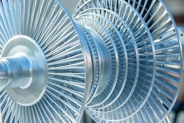 Modèle visuel du mécanisme d'une unité de turbine rotative