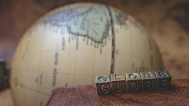 Modèle world globe antique