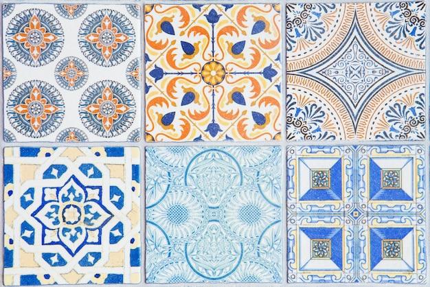 Modèles de carreaux de céramique du portugal.