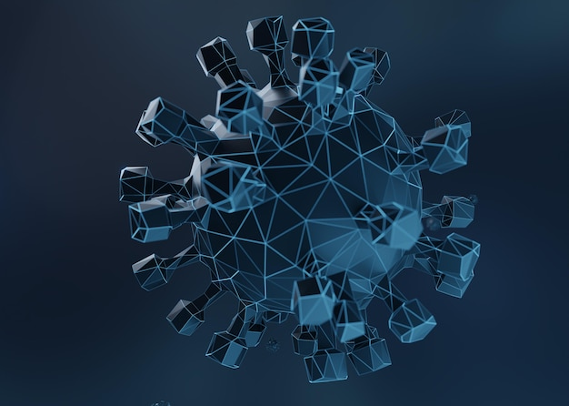 Modélisation 3d du virus covid