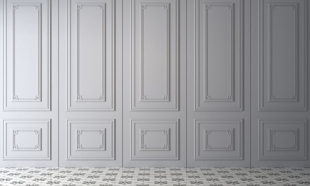 Moderne confortable maquette décor design d'intérieur de salon vide et fond de texture de mur blanc