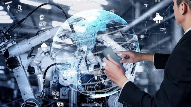 Modernisation des bras de robot de l'industrie intelligente pour la technologie des usines numériques