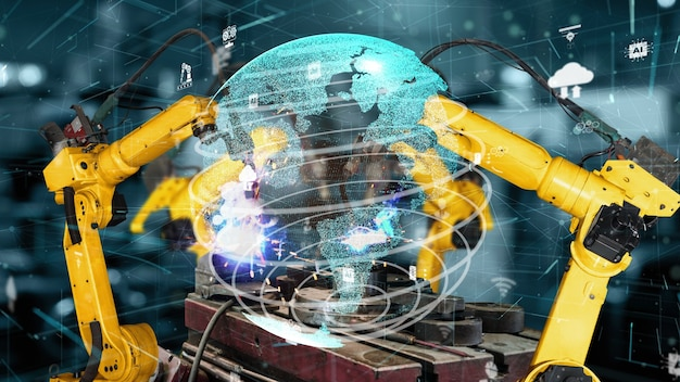 Modernisation des bras robotisés de l'industrie intelligente pour la technologie des usines numériques