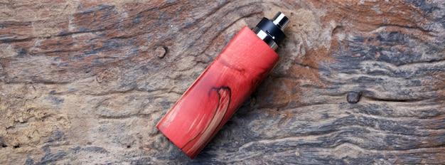 Mods de boîte en bois stabilisé naturel rouge haut de gamme avec atomiseur dégoulinant reconstructible