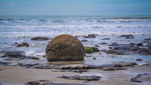 Moeraki boulders en nouvelle-zélande