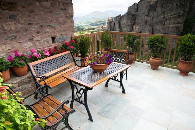 Monastère ancien balcon des météores