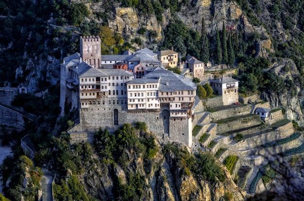 Monastère de dionysiou en grèce