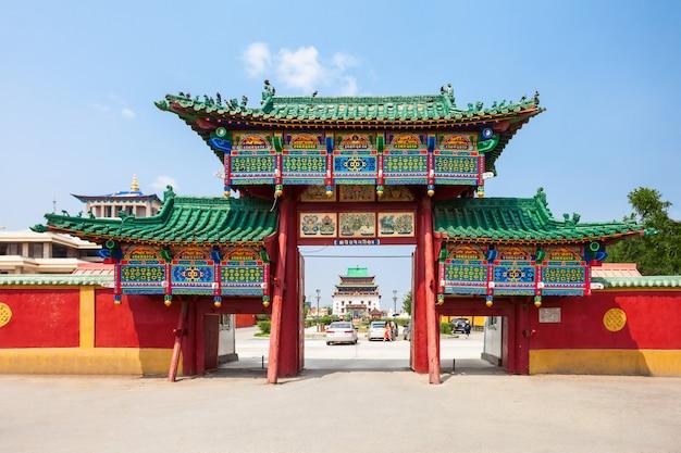 Monastère de gandan à oulan-bator