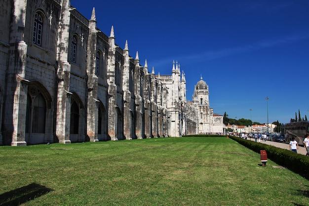 Monastère des hiéronymites à belém, ville de lisbonne, portugal