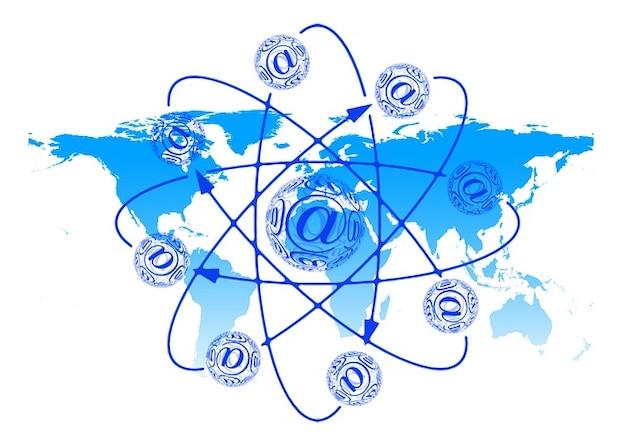Monde email balle courriel électronique terre globe